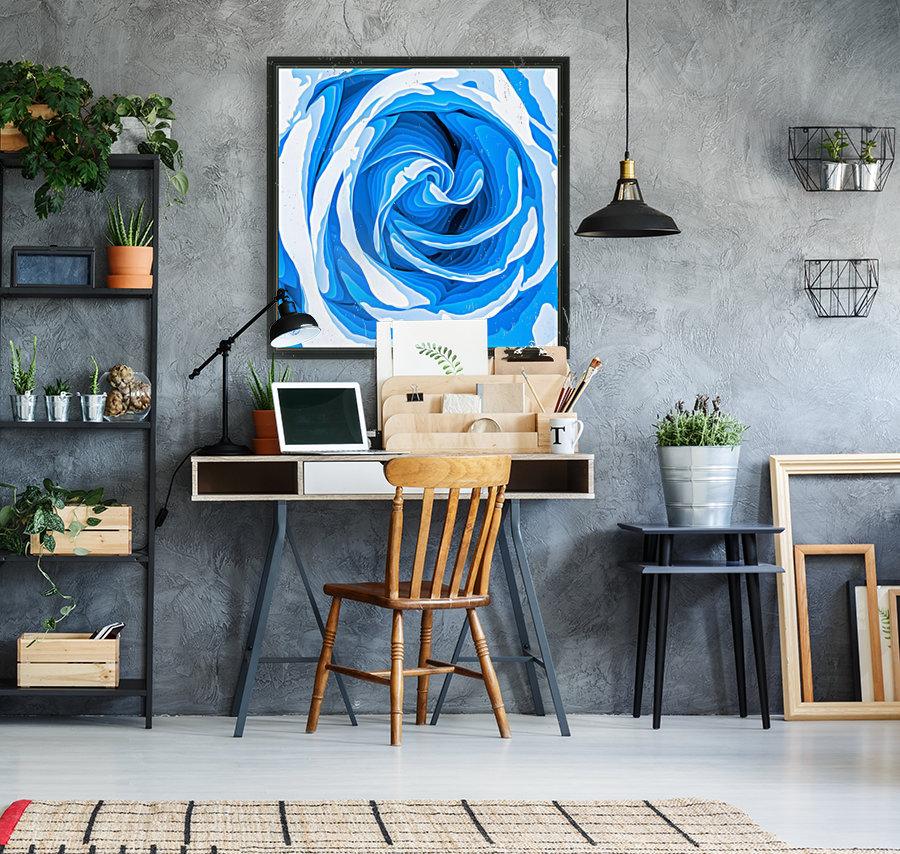 closeup blue rose texture abstract background  Art