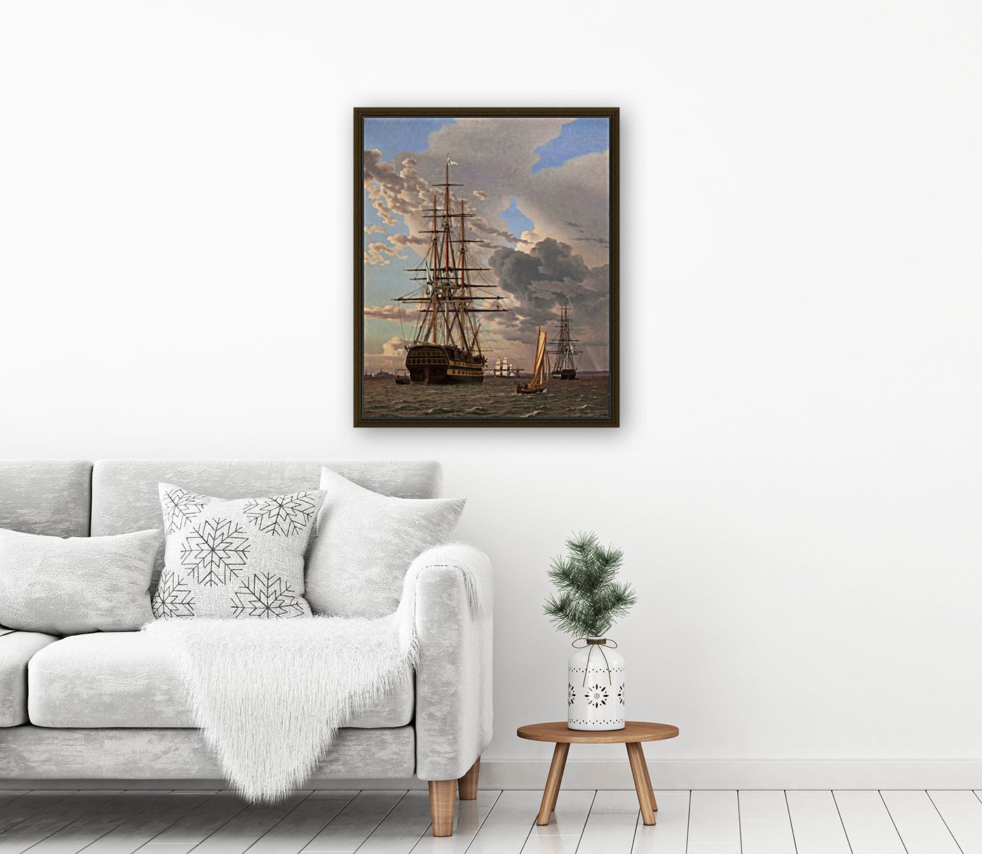 A Russian ship of the Line Asow and a Frigate at Anchor in the Roads of Elsinore  Art