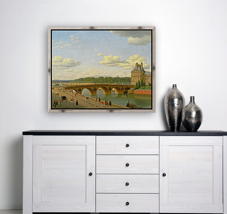 View at Pont Royal from Voltaire Quai in Paris  Art