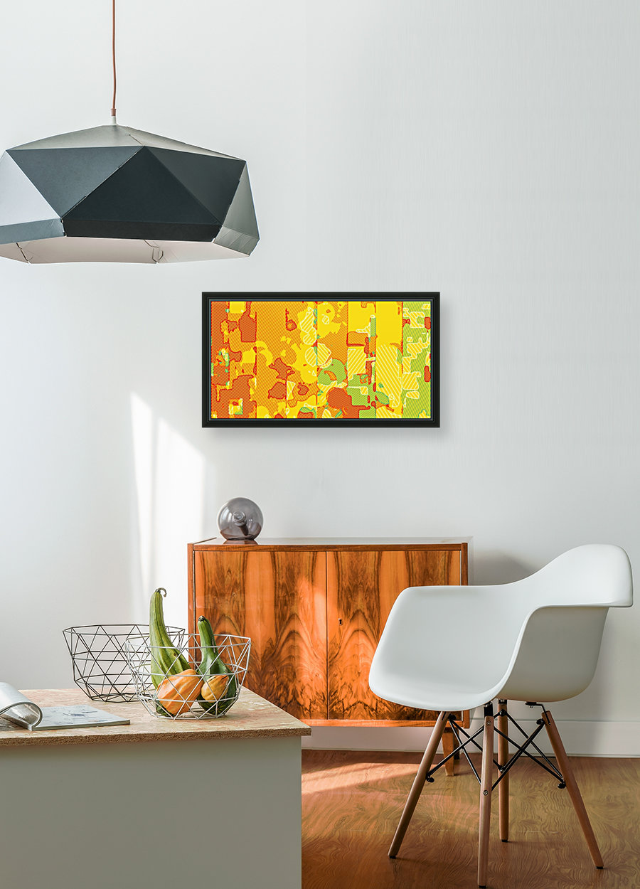 graffiti drawing abstract pattern in yellow brown and blue  Art