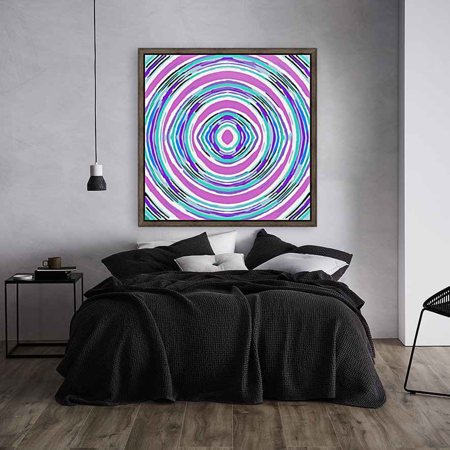 psychedelic graffiti circle pattern abstract in pink blue purple  Art