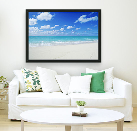 Northwestern Hawaiian Islands, Midway Atoll, Sand Island, Turquoise Ocean And White Sand Beach.  Art