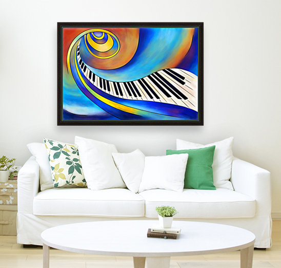 Redemessia - spiral piano with Floating Frame