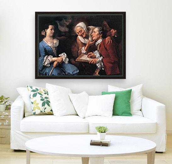 The sitting, 1754  Art