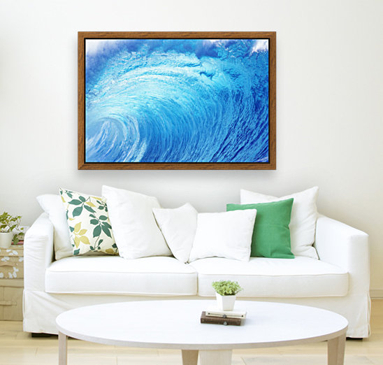 Hawaii, Oahu, North Shore, Curling Wave At World Famous Pipeline.  Art