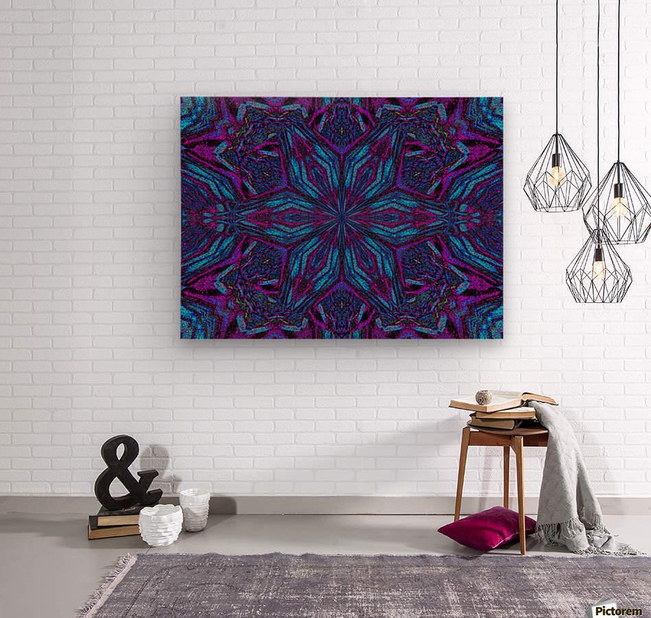 Crystal Flower 3  Wood print