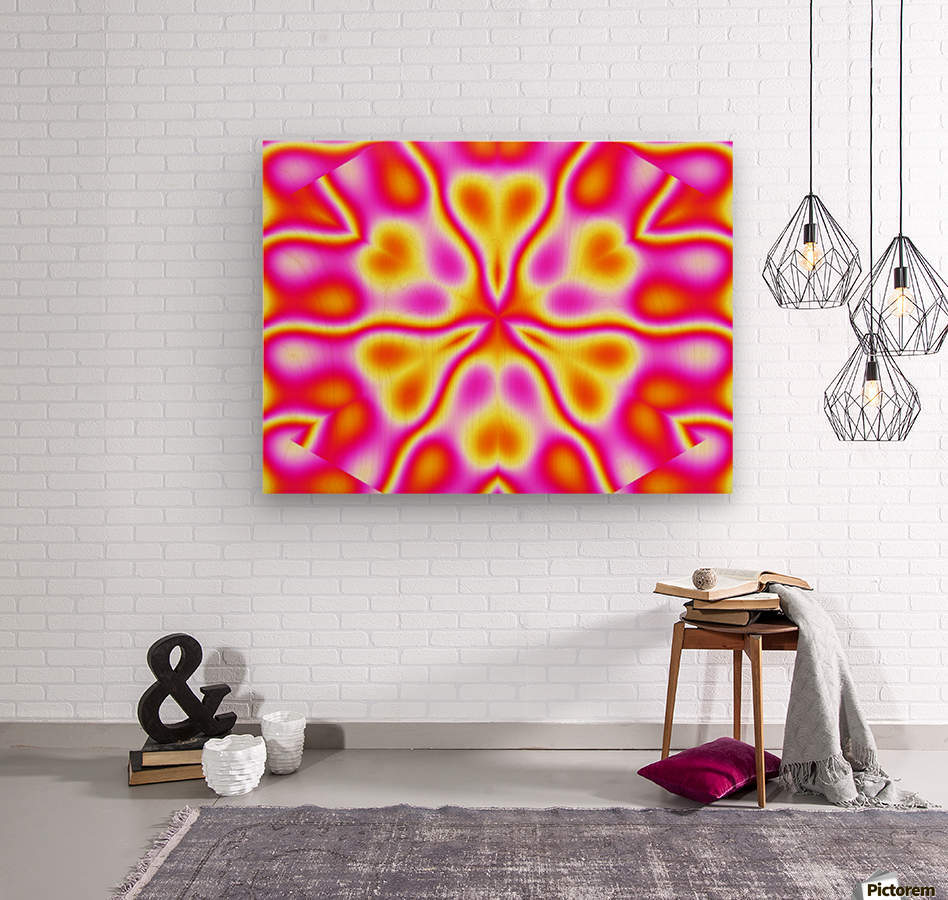 California Wildflowers in Pink and Yellow  Wood print