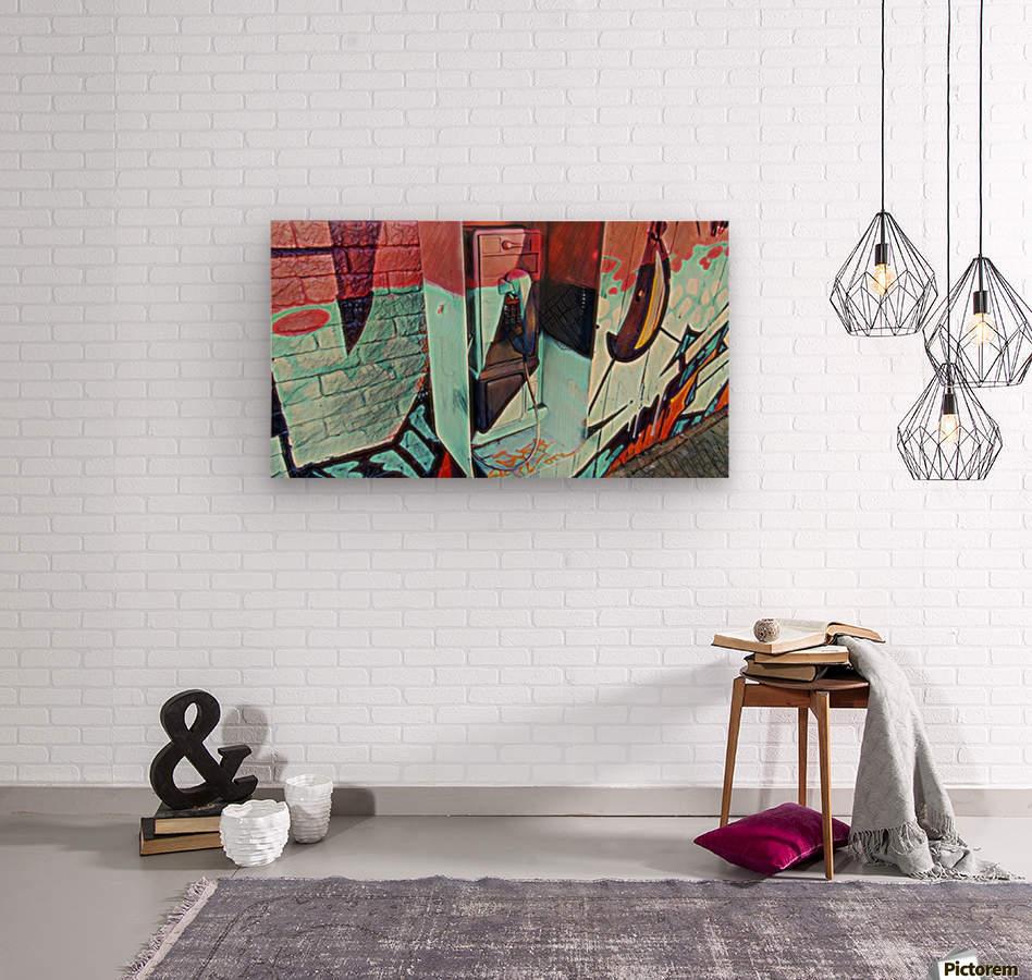The Art Phone, Art Phone, pic art  Wood print