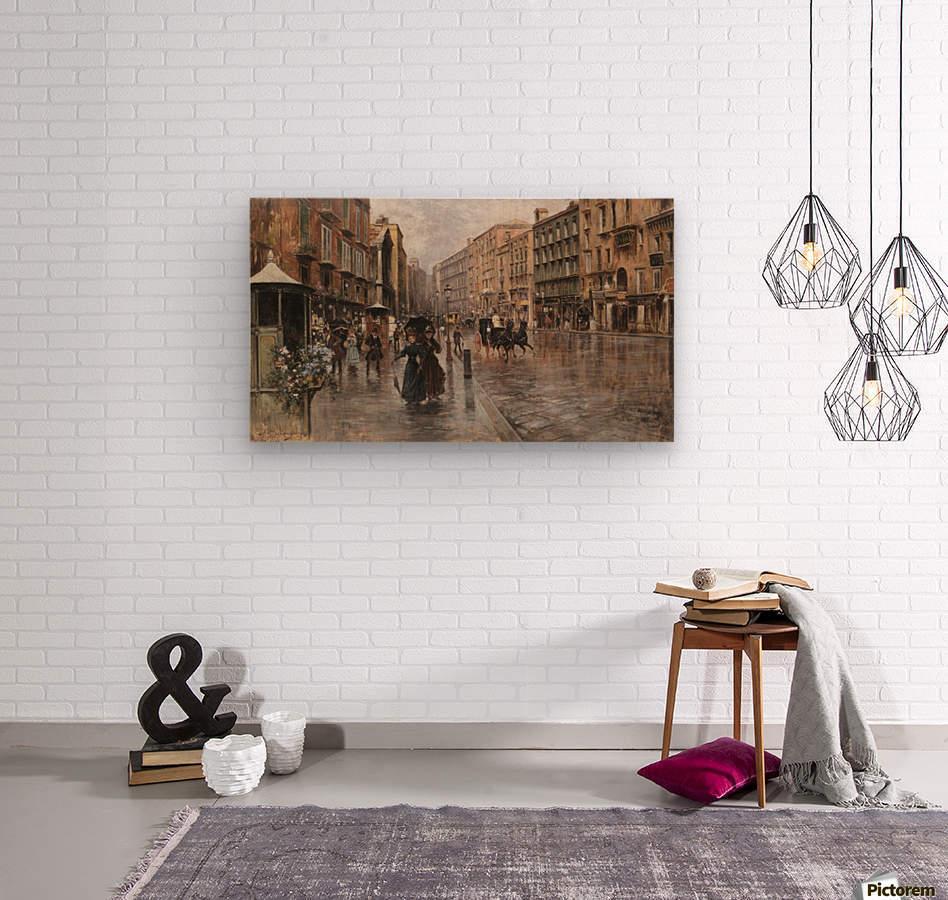 Napoli, Via Toledo  Wood print