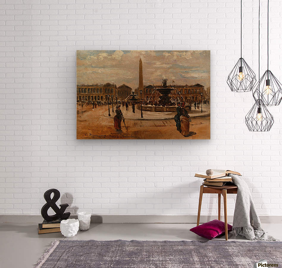 Place of the Concorde animated  Wood print