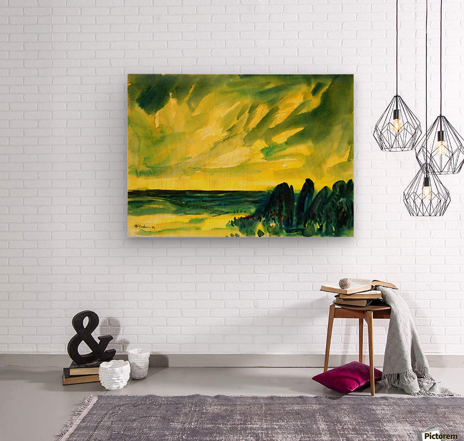 sea and sky  Wood print