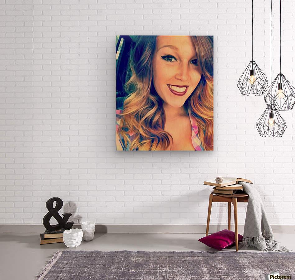 EM- Female pic art model  Wood print