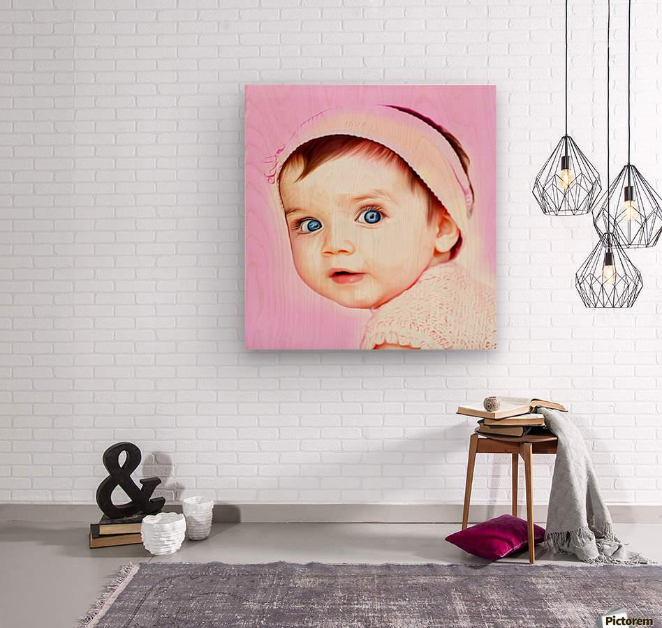Cute Baby Pic Art  Wood print