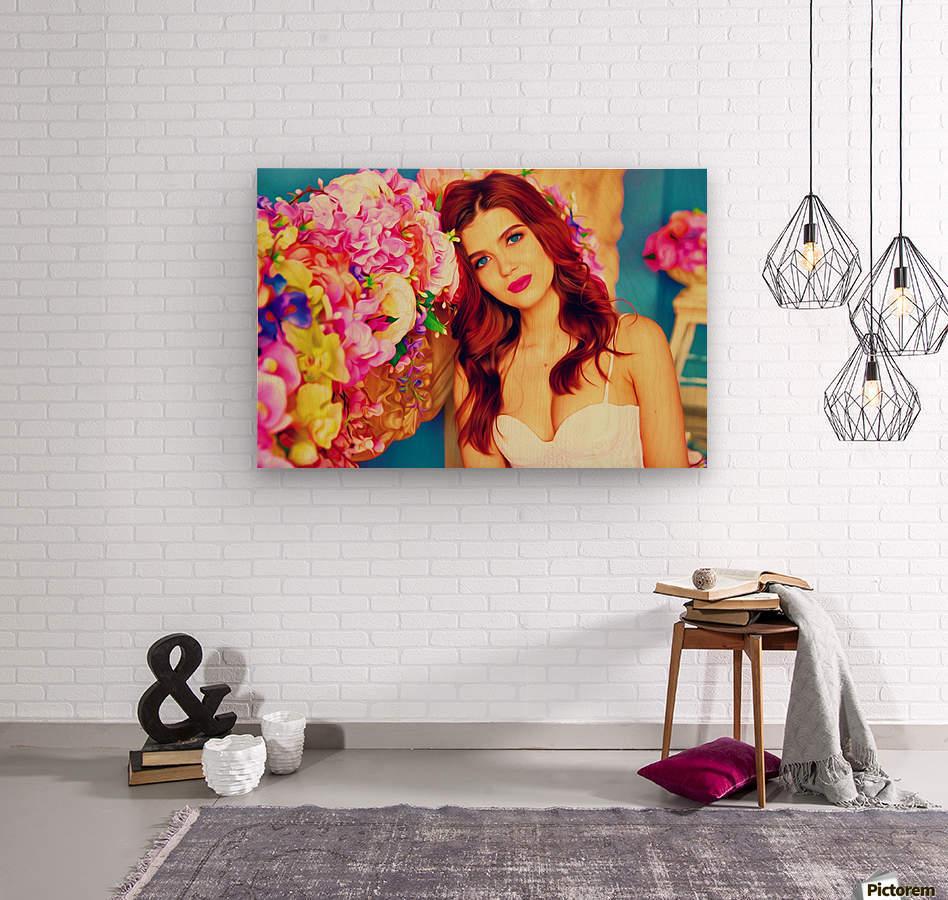 WeddingPic PicArt  Wood print