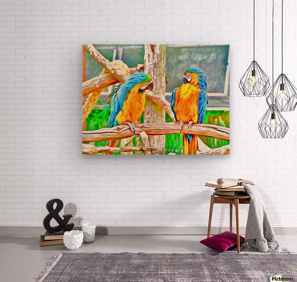 BirdsTalking  Wood print