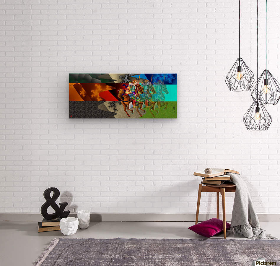 A Return thro' Space & Time  Wood print