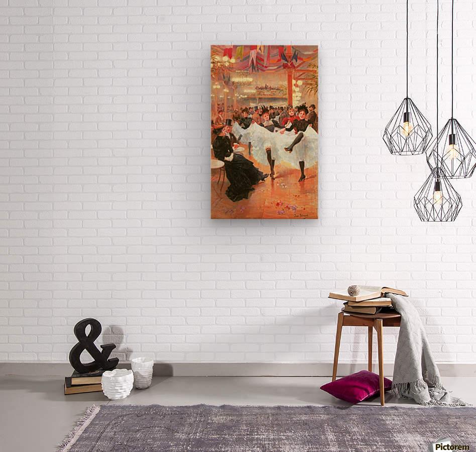 Cafe de Paris  Wood print