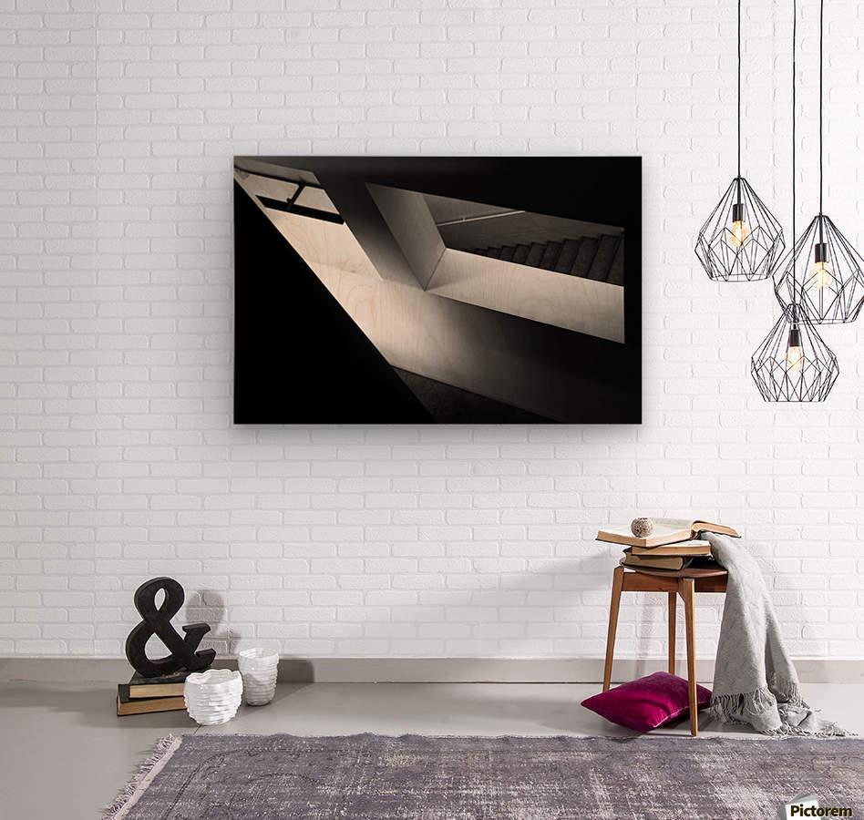 Light and shadow play  Wood print