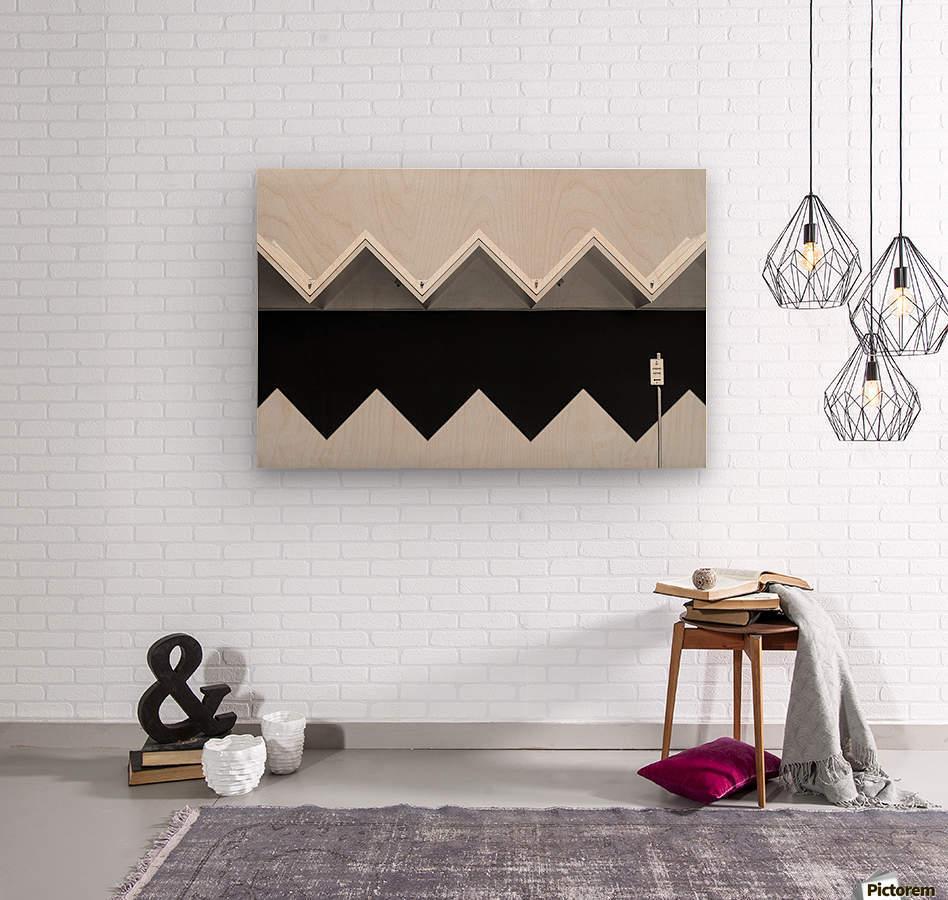 Zig Zag Shadow  Wood print