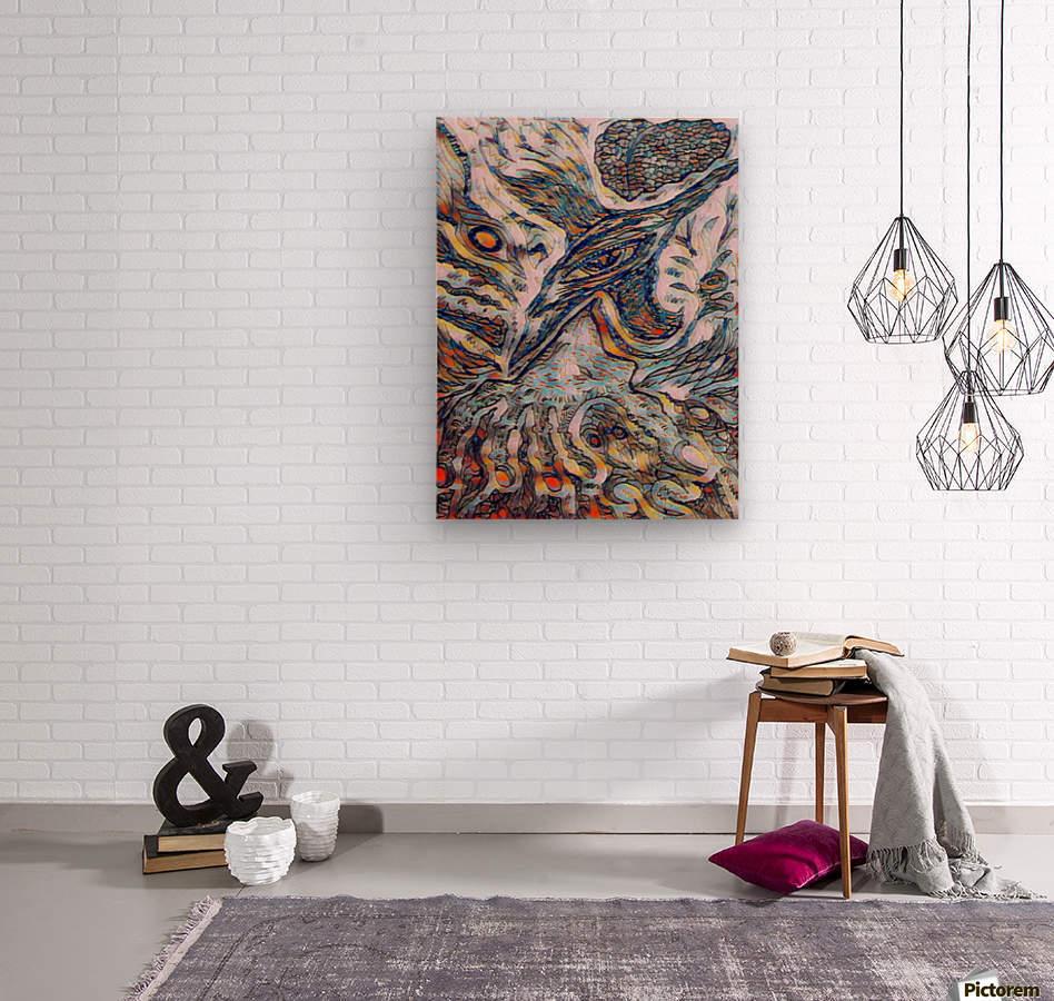 shiba   Wood print