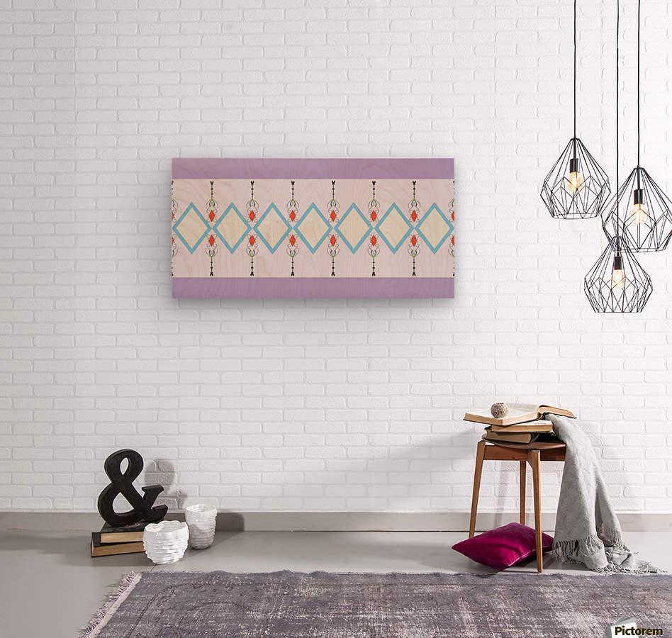 Pastel Pattern 1  Wood print