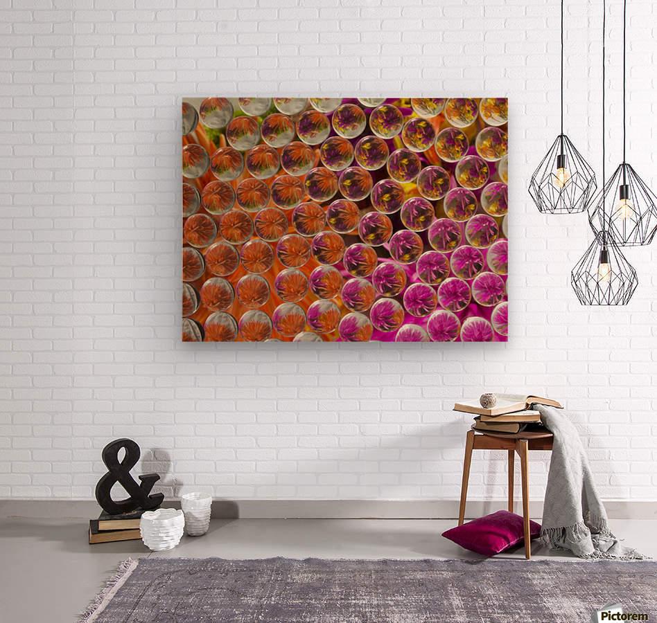 FLOWERS REFRACTION 4  Wood print