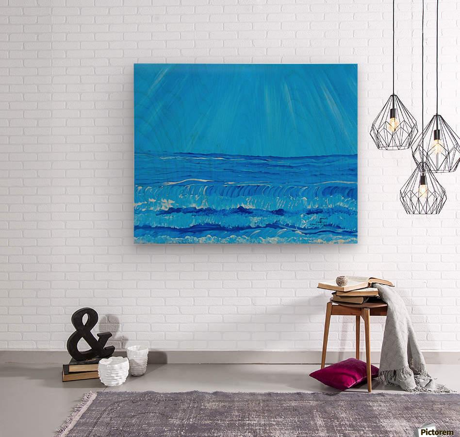 27_027 waves R  Wood print