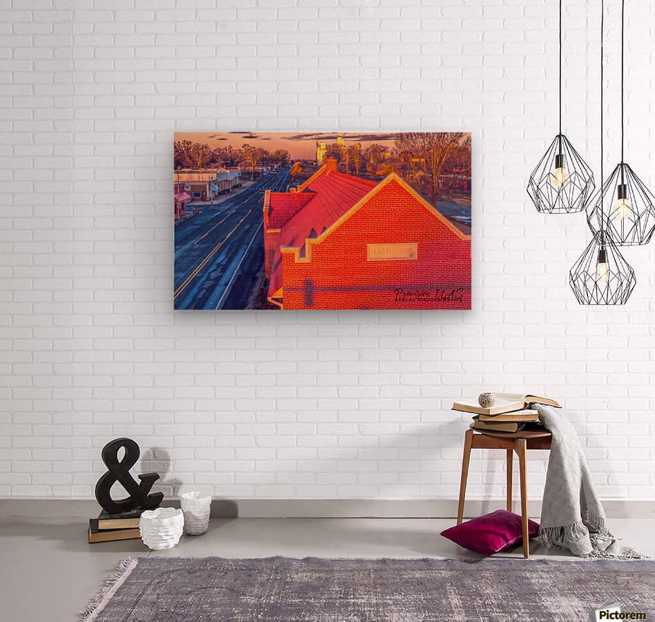 Lonoke, AR   Red Oak   Wood print