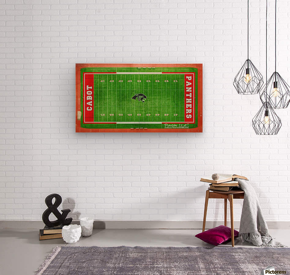 Cabot, AR   Panther Football Field  Wood print