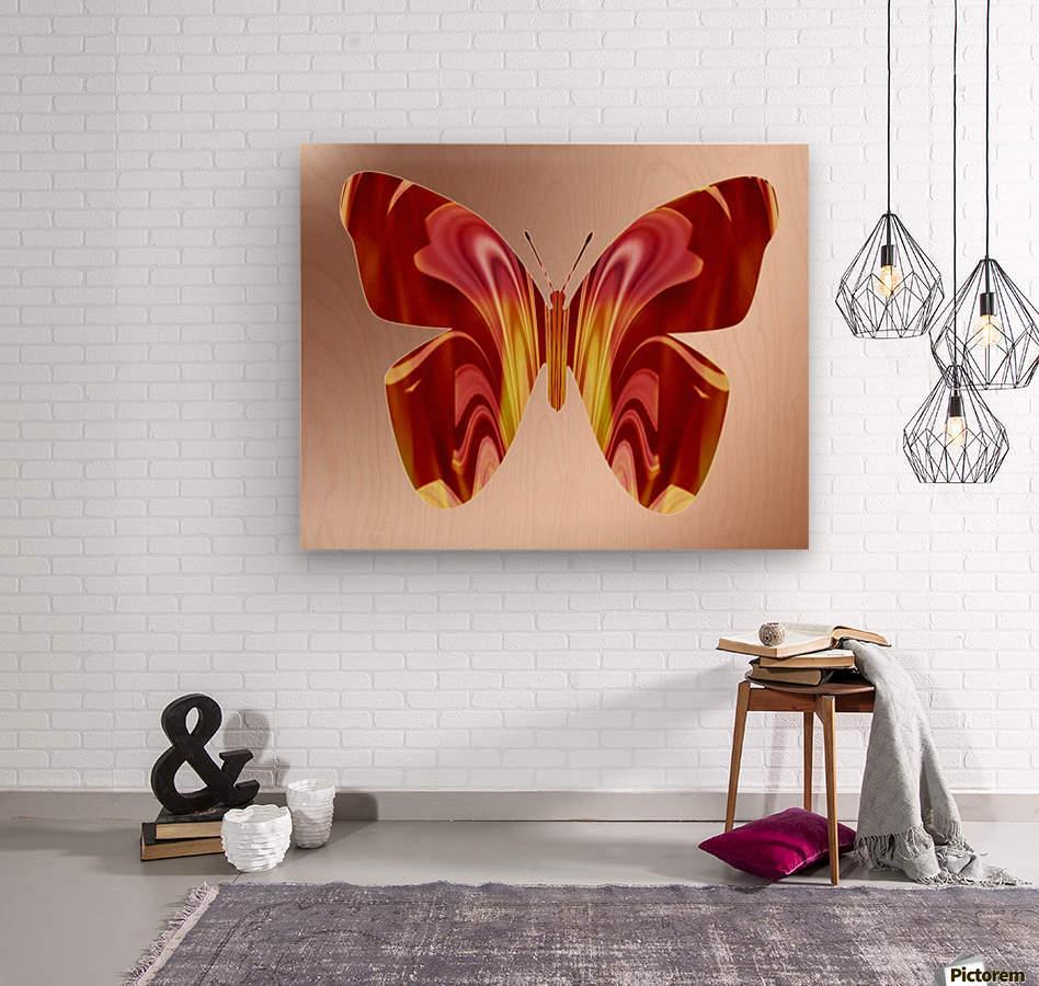 BejeweledButterfly  Wood print