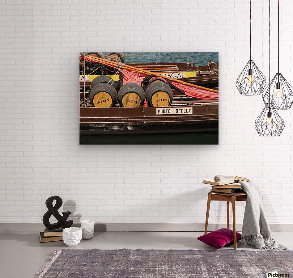 Oporto Wine Barrels   Wood print