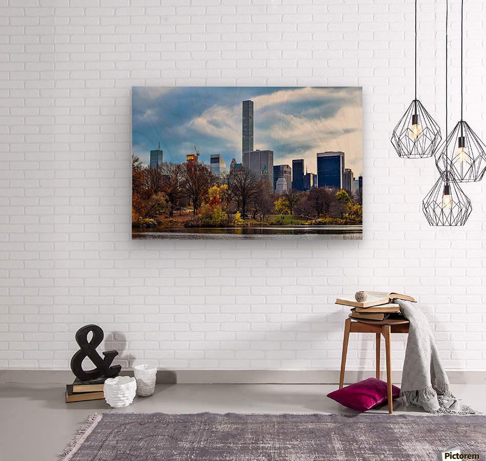 Autumn Central Park   Wood print