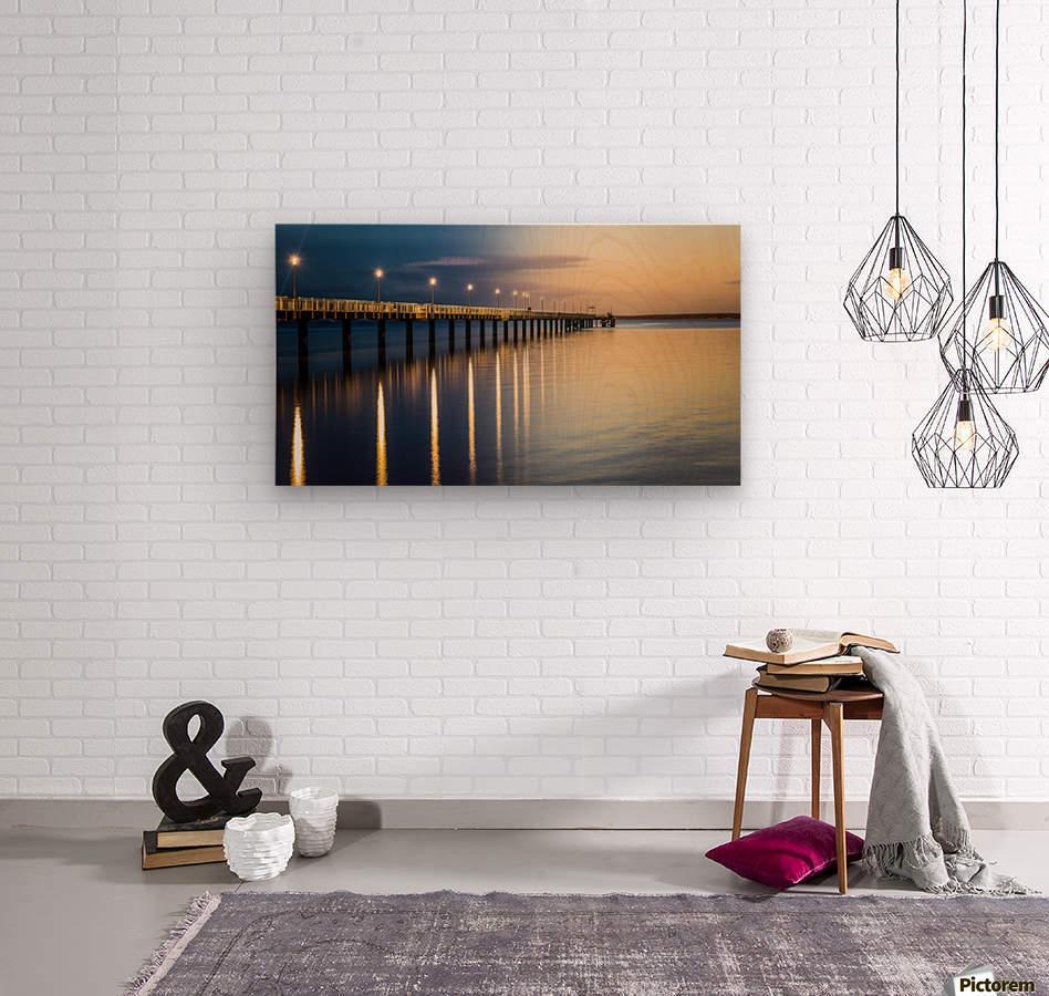 Sea Day2Night  Wood print