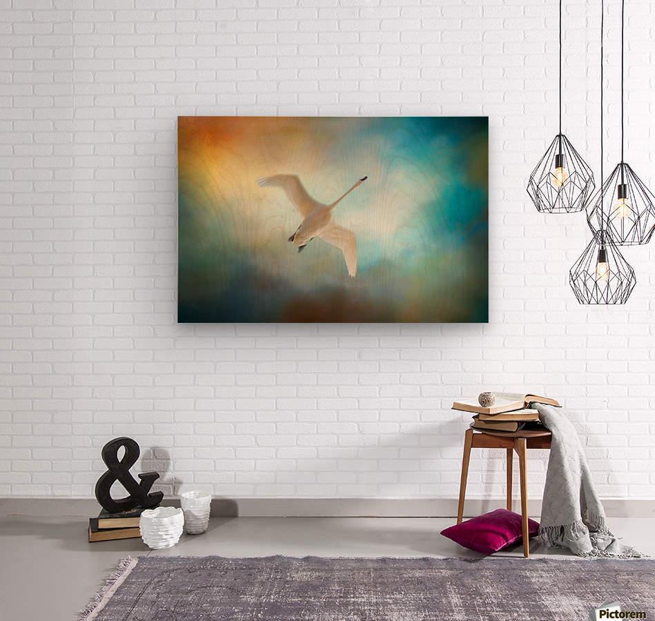 Swan Wings  Wood print