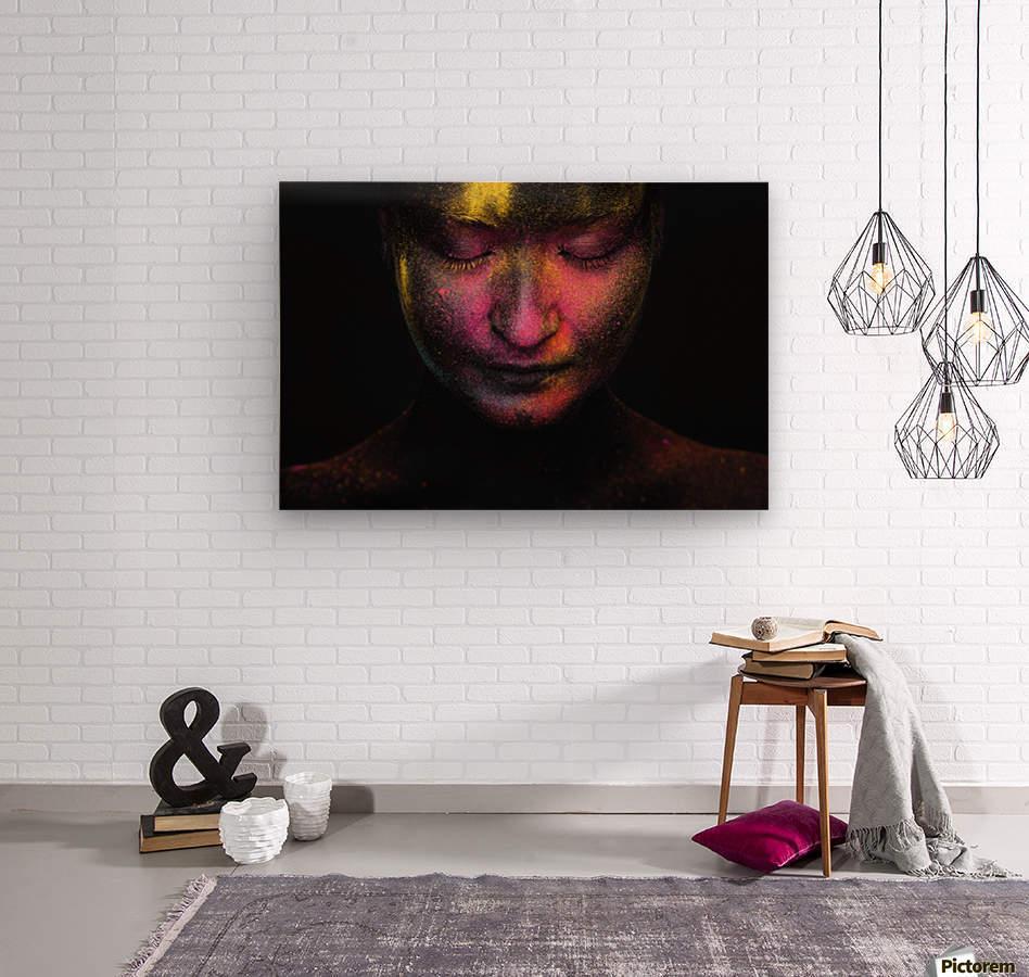 RGB feelings  Wood print
