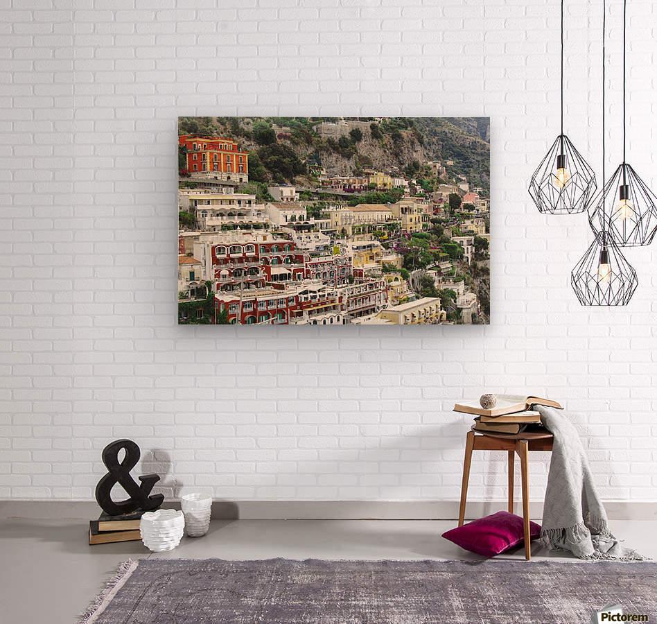 Houses at Amalfi Town - Italy  Wood print
