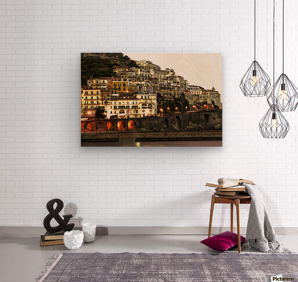 Amalfi Village  Landscape - Italy  Wood print