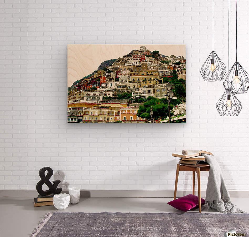 Positano Village in Amalfi Coast - Italy  Wood print