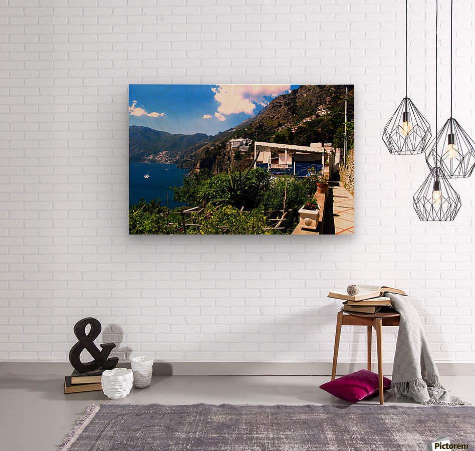 Amalfi Coast Landscape - Italy  Wood print