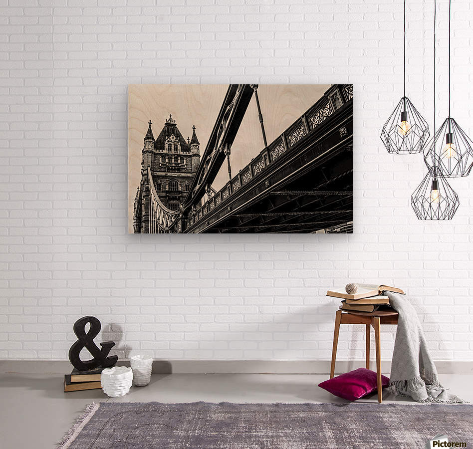 Tower Bridge Close up - London - Uk  Wood print
