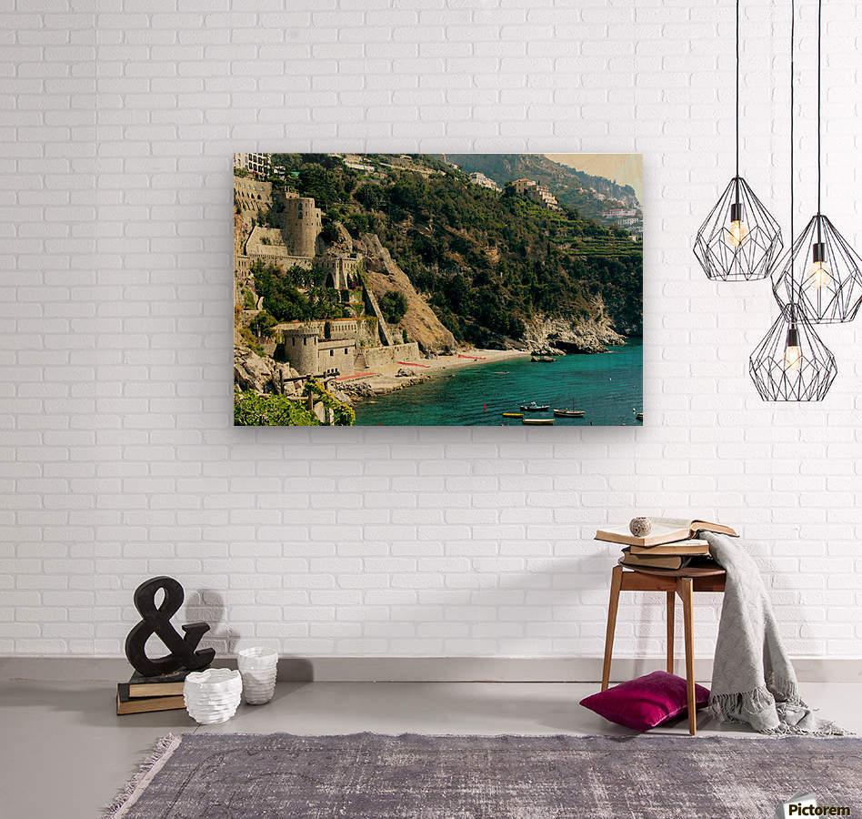 Amalfi Coast Beach - Italy  Wood print