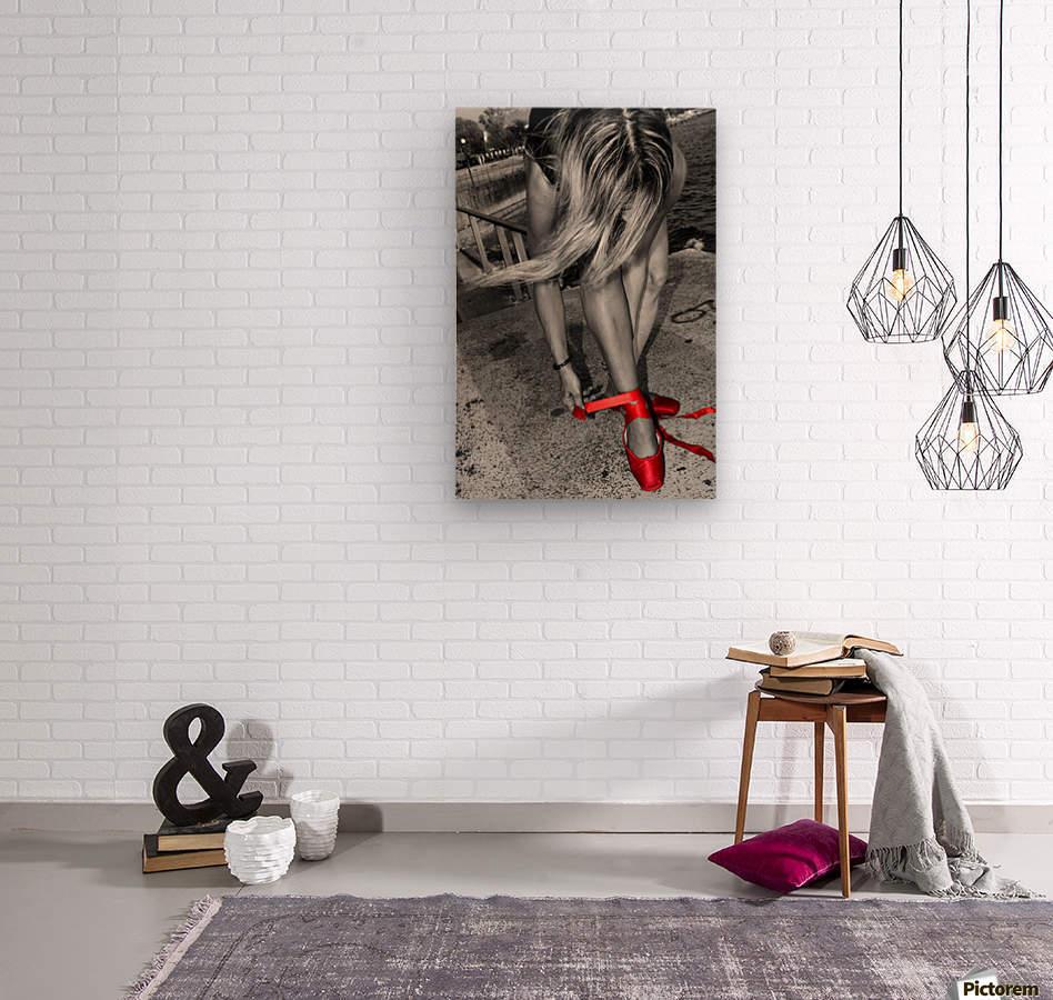 Ballet shoes  Wood print