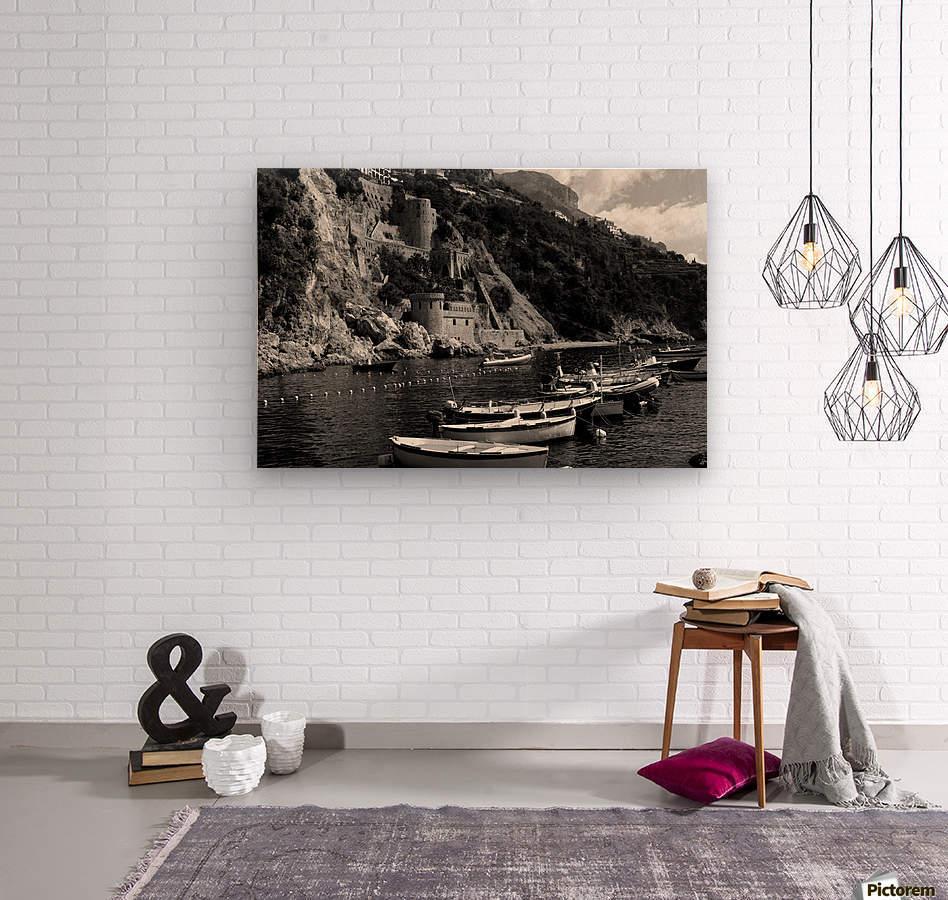 Beautiful View of Amalfi Coast Beach - Italy  Wood print
