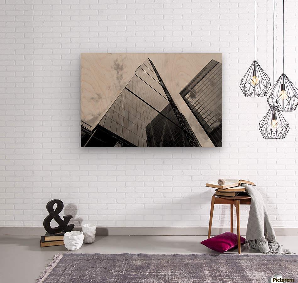 London Skyscraper III - Black and White  Wood print