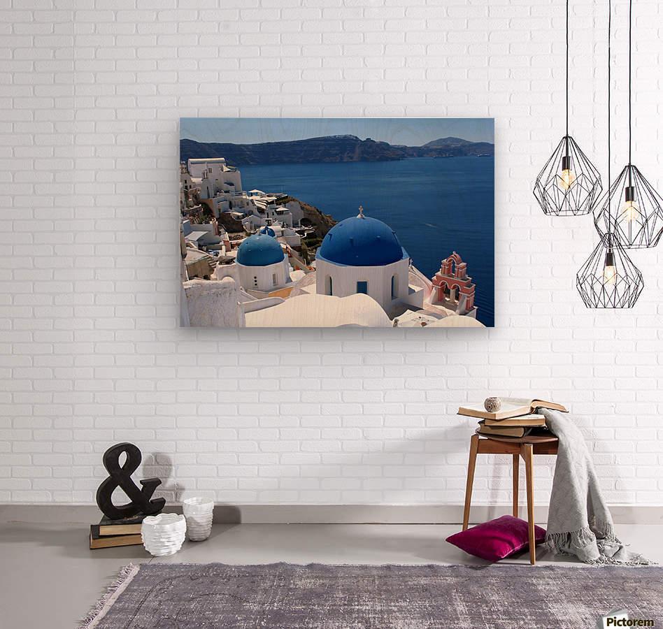 Amazing Santorini Landscape   Wood print