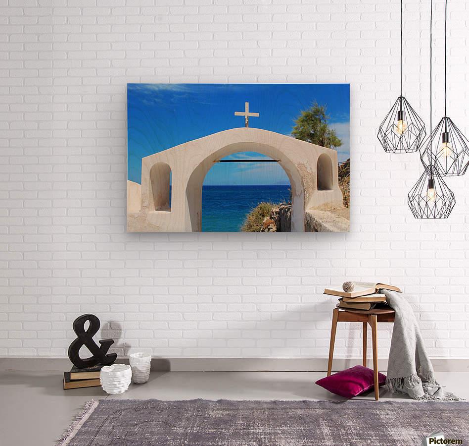 The Arch - Santorini Island  Wood print