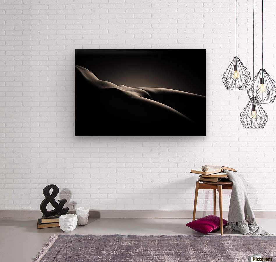 Bodyscape nude  Wood print