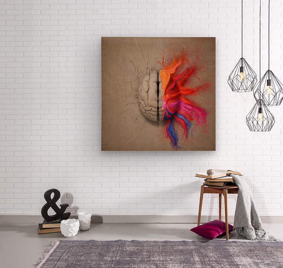 The Creative Brain  Wood print