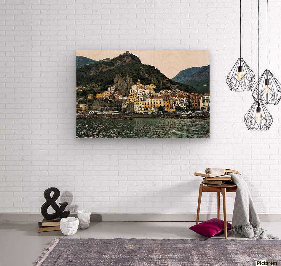 Italian Village Landscape - Amalfi  Wood print