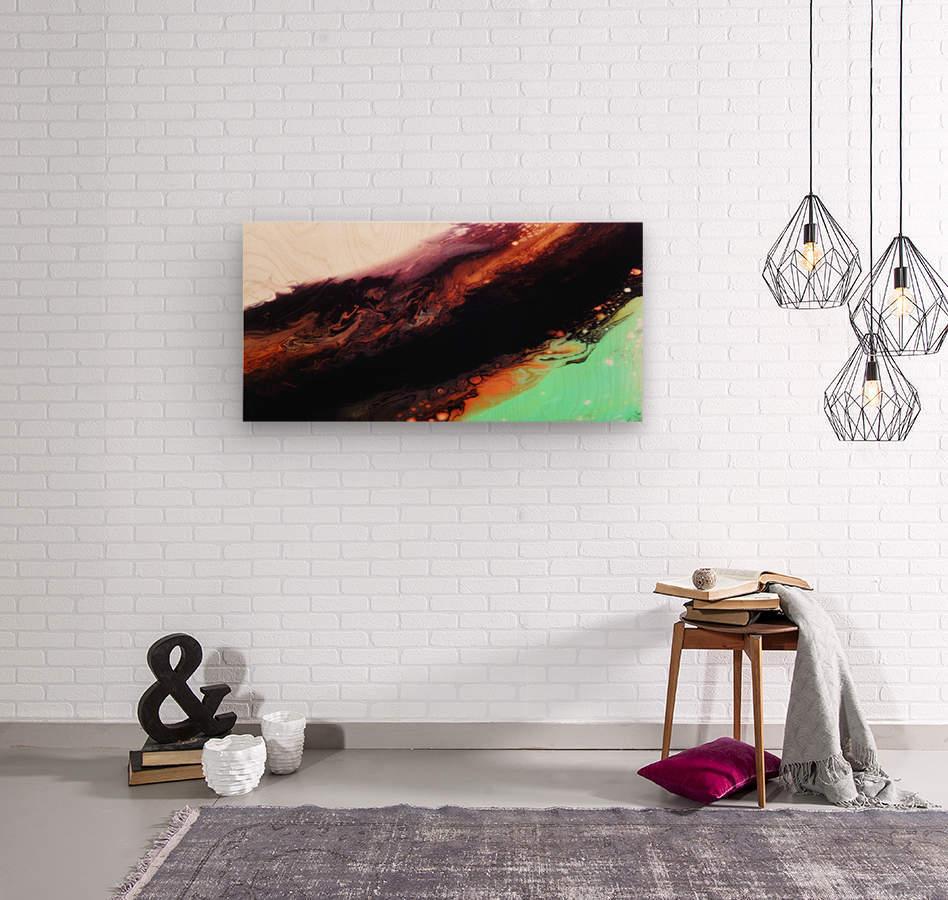 Agate Minimalist Abstract Canvas Painting Metal Artwork  Wood print